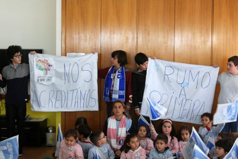 FC Famalicão visitou jardim de infância e ATL do Centro Social e Cultural Dr. Nuno Simões