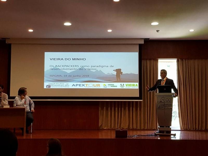 Vieira no Seminário 'Turismo de Backpackers, Realidades e Desafios'