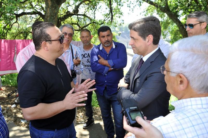 Ricardo Rio visitou Bairro Social do Picoto