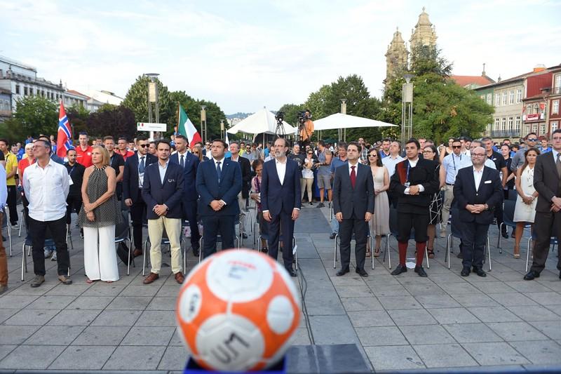 Reitor declarou aberto o Campeonato Europeu Universitário de Futsal 2019