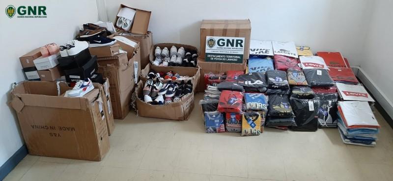Vieira do Minho: Apreensão de 503 artigos contrafeitos