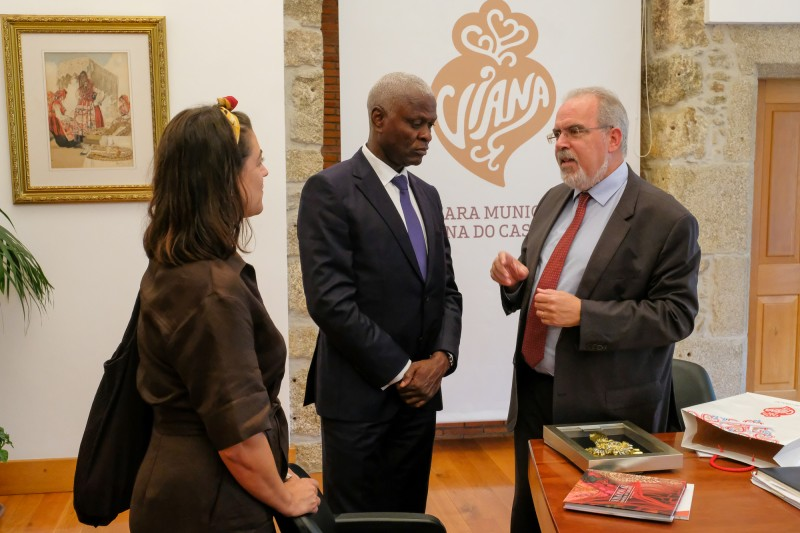 Presidente do Governo da Ilha do Príncipe visita Viana do Castelo