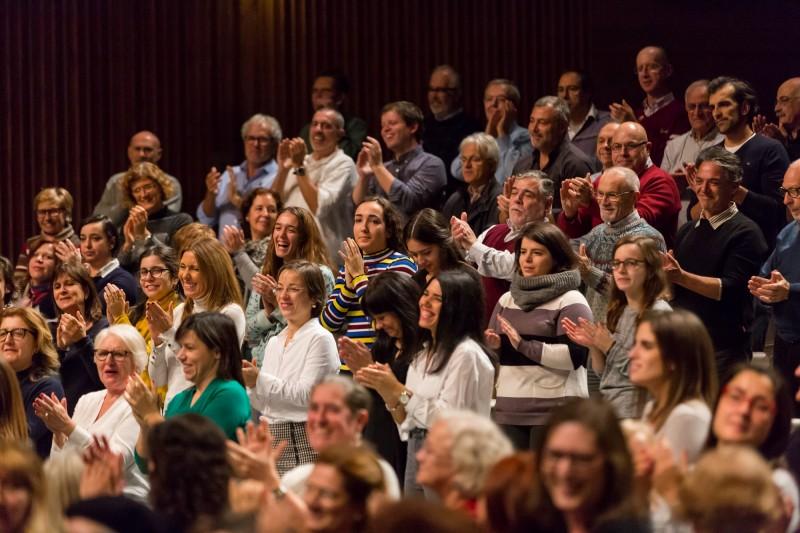 """200 cantores amadores interpretam O Messias participativo, da Fundação """"la Caixa"""" e do BPI, no Theatro Circo de Braga"""