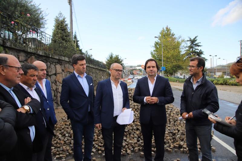 Vizela: Executivo visita obras do centro urbano