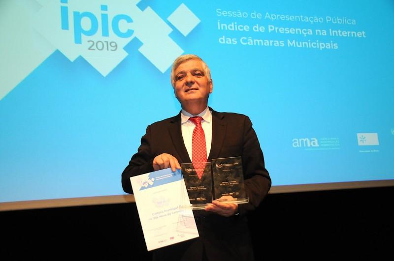 Município distinguido com 1º prémio nacional IPIC 2019 atribuído pela UM e AMA