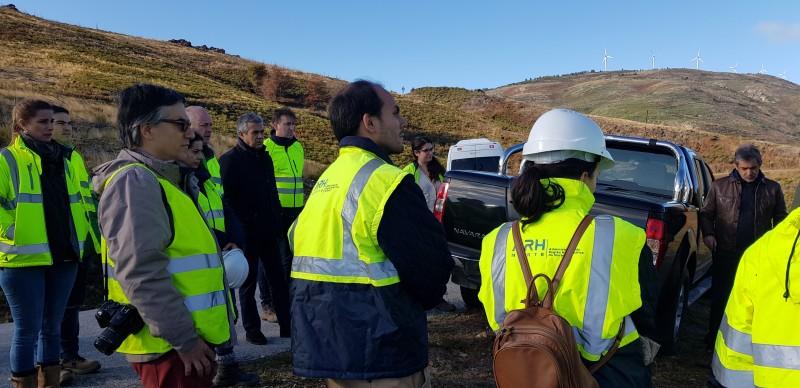 Comissão de Acompanhamento Ambiental do Sistema Eletroprodutor do Tâmega visitou espaços florestais recuperados em Cabeceiras de Basto