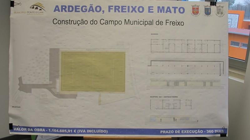 Assinatura do Auto de Consignação do Campo Municipal de Freixo, pelo valor de 1.164.685,91€