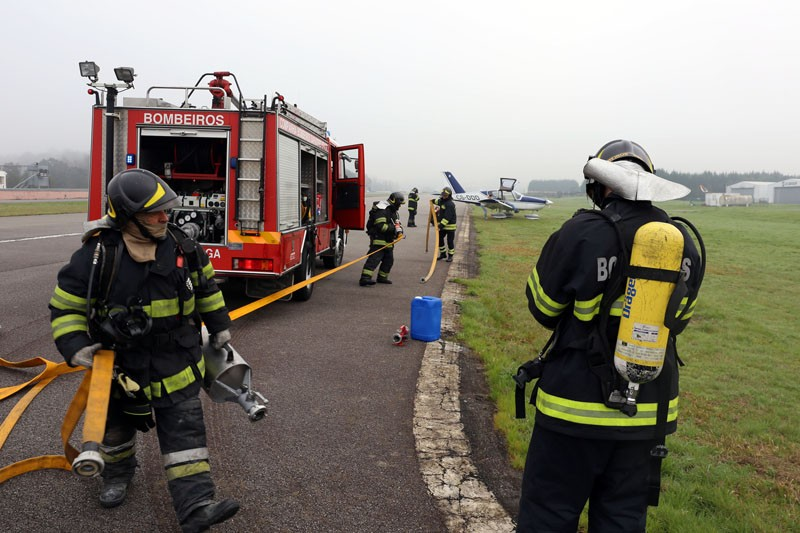 Acidente com aeronave testou socorro
