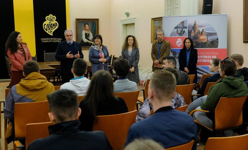 Presidente da Câmara deu as boas-vindas aos alunos de Erasmus + do Instituto Politécnico de Viana do Castelo