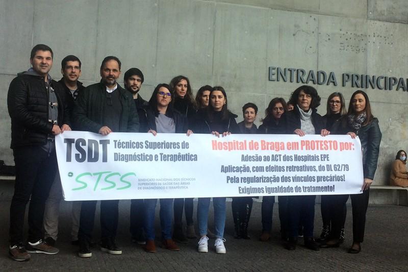 """Técnicos de diagnóstico do Hospital de Braga reivindicam """"aplicação da lei"""" nos seus contratos"""