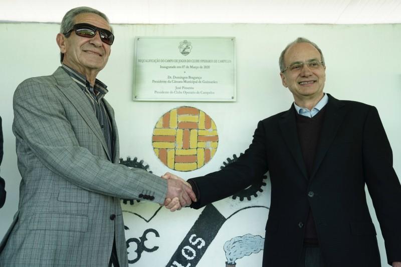 Domingos Bragança inaugura obras de reabilitação do Campo de Jogos de Campelos