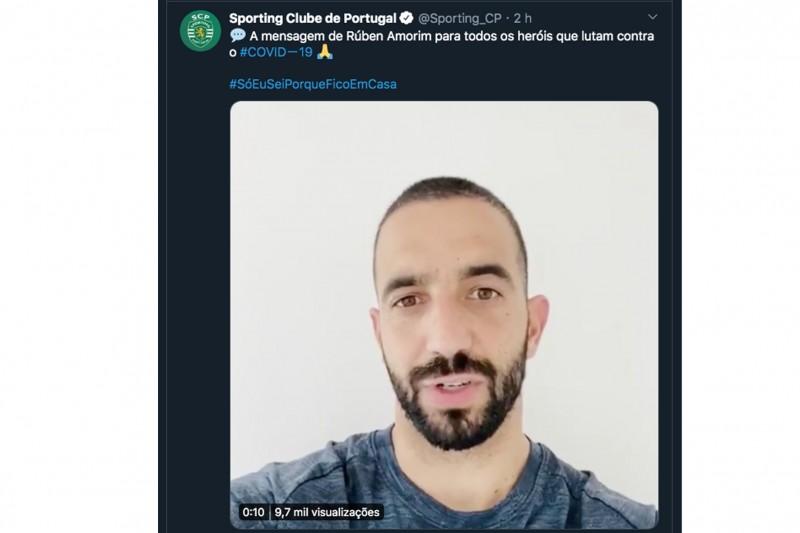 """Rúben Amorim deixa mensagem aos que lutam """"na linha da frente"""""""