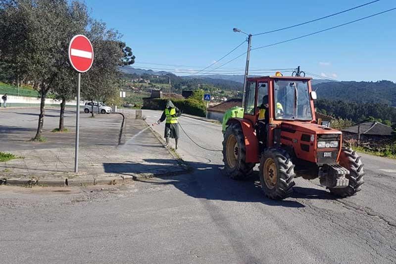 Câmara de Cabeceiras de Basto desinfecta espaços públicos do concelho