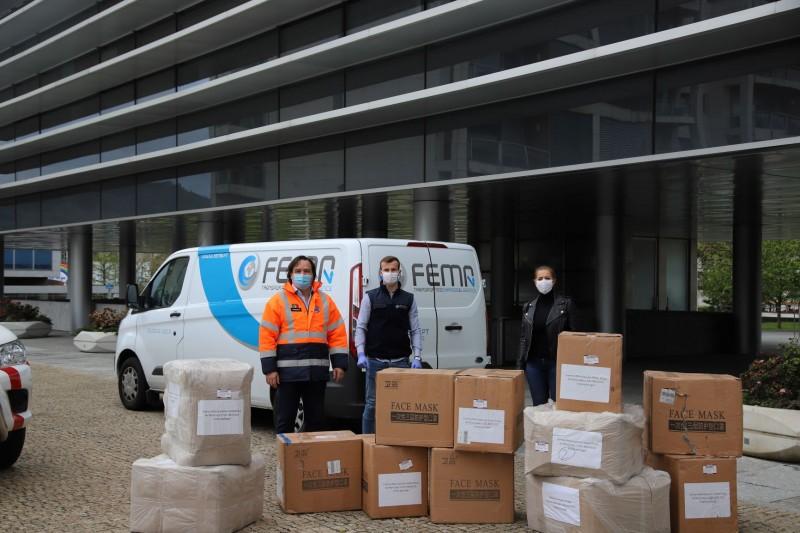 Chegaram a Vizela 40 mil máscaras vindas da China