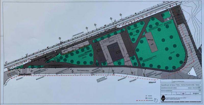 Investimento de 306 mil euros para requalificar envolvente ao Interface Rodoferroviário do Lugar da Areia, Darque