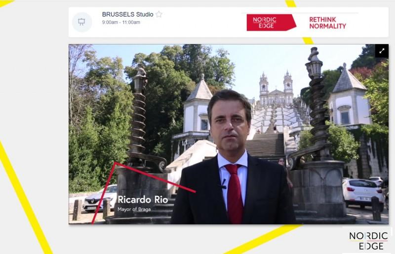 Ricardo Rio abordou estratégia de neutralidade carbónica de Braga até 2030 na Nordic Edge Expo