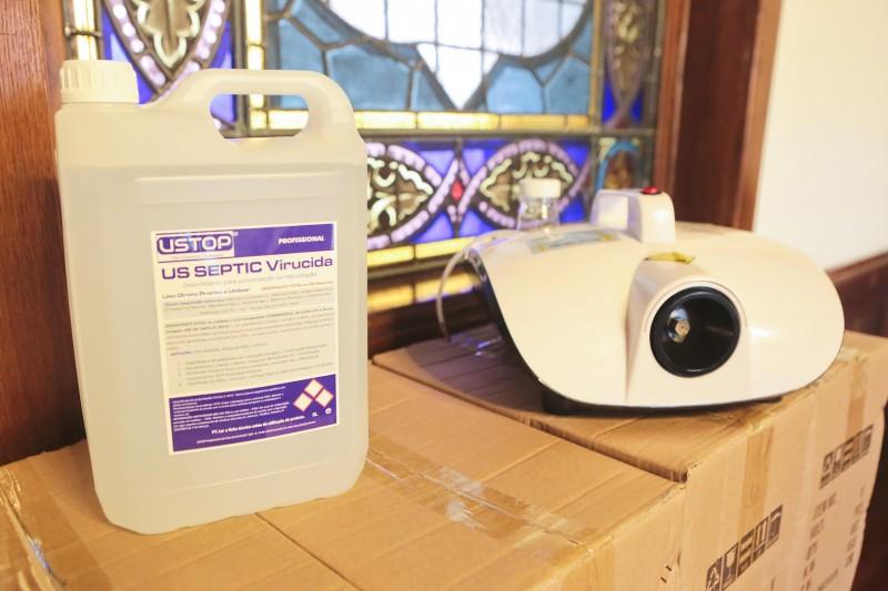 Máquinas de desinfeção ecológica eficaz contra o coronavírus, foram entregues a todas as Escolas, Lares e Centros de Dia do concelho