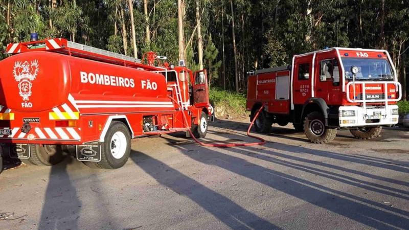 Três bombeiros dos voluntários de Fão em Esposende infectados