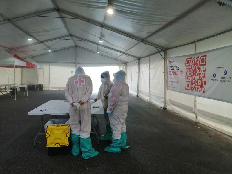Cruz Vermelha realizou perto de 900 testes em duas semanas