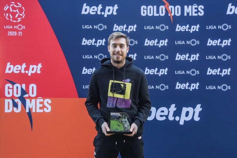 Iuri Medeiros recebeu distinção do golo do mês na I Liga
