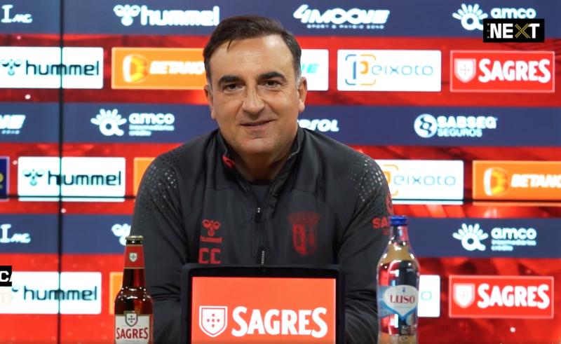"""Carlos Carvalhal: """"Não olhamos para a classificação, mas para o que conseguimos fazer"""""""