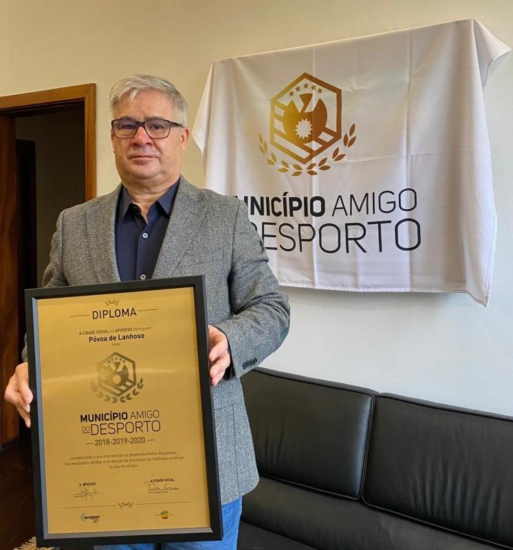 Póvoa de Lanhoso renova galardão  de Município Amigo do Desporto