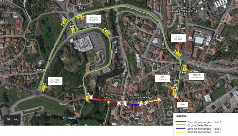Cruzamentos em Vizela transitáveis a partir de amanhã