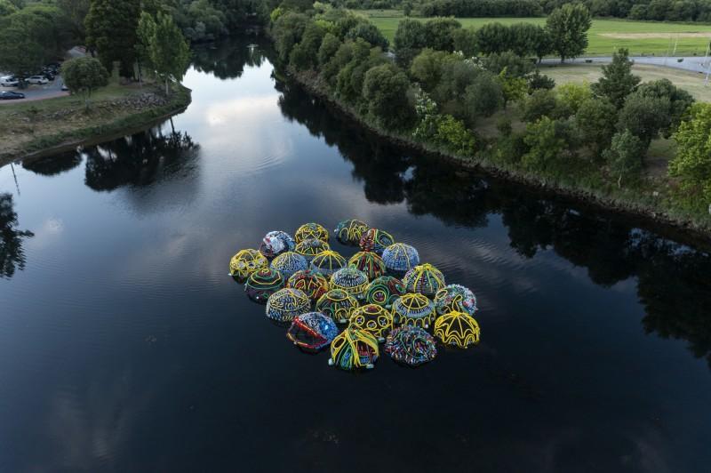 Cerveira assinalou Dia Mundial dos Oceanos com instalação artística no Rio Minho