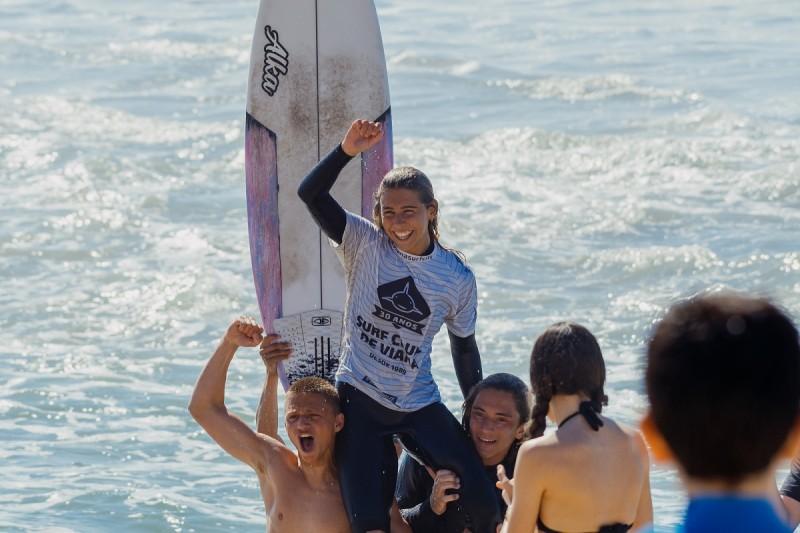 Campeões regionais de surf do Norte apurados em prova com recorde de participantes