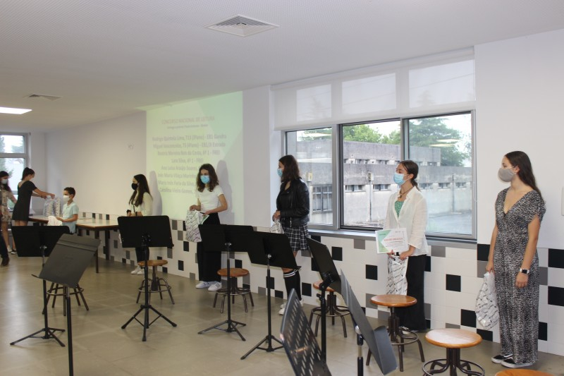Jovens génios da leitura premiados pelo Agrupamento de Escolas de Maximinos