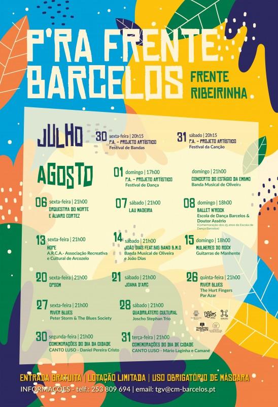 Programa cultural 'P'ra Frente Barcelos' regressa à Frente Ribeirinha com 17 espectáculos