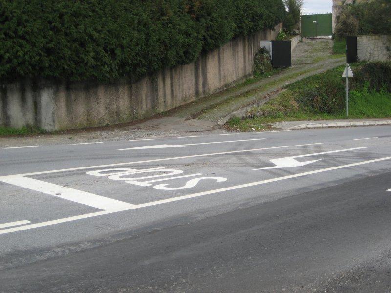 Vilaça: linha impede entrada em casa