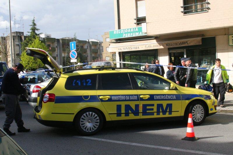 Troca de tiros em assalto a ourivesaria em Braga