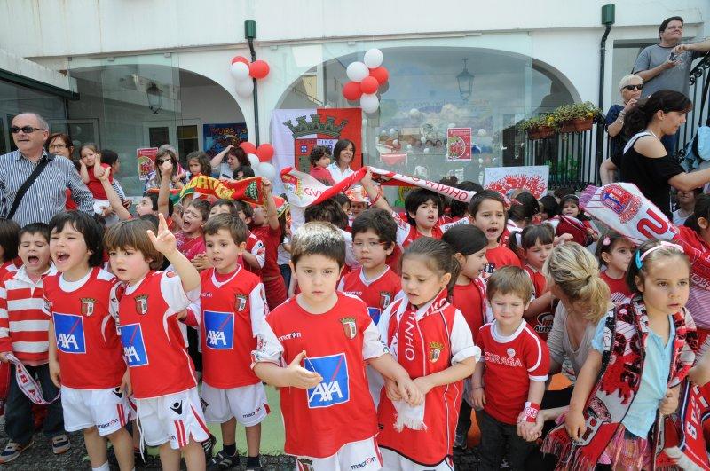 Sp. Braga visita Centro de Solidariedade da Sagrada Família