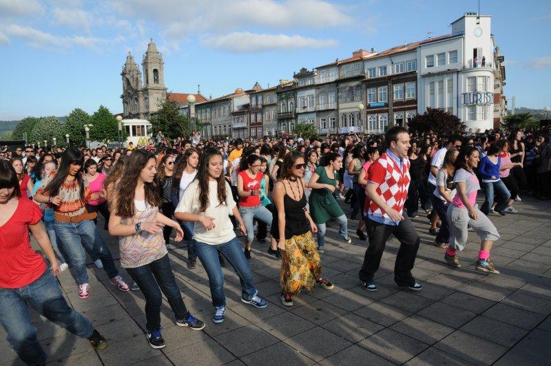 Braga recebeu maior flash mob dance do país