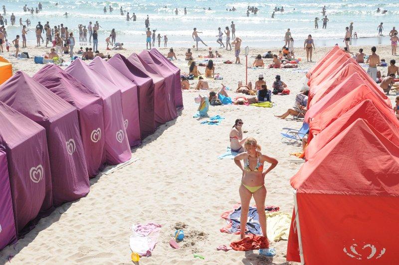 'Praia de Ofir' repleta de banhistas